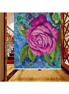 Oil Painting Pink Peony Printing 3D Blackout Roller Shades