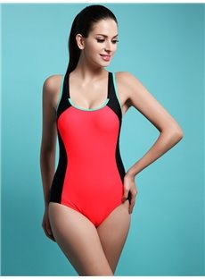 Female U-Neck Free Wire Bra and Triangle Underwire Tankini