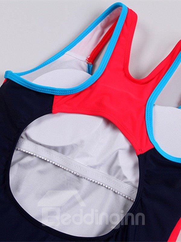 Female U-neck Streamline Free Wire Sports Sytle Tankini