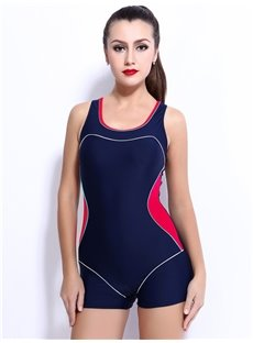 Female Simple Style U-Neck Free Wire Tankini