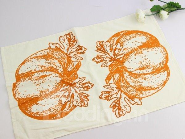 Huge Vivid Pumpkin Printing Face & Hand Towel