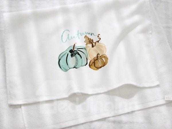 Watercolor Pumpkin Printing Face & Hand Towel