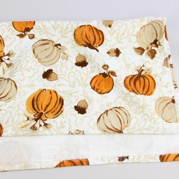 Cute Double Colors Pumpkins Printing Face & Hand Towel