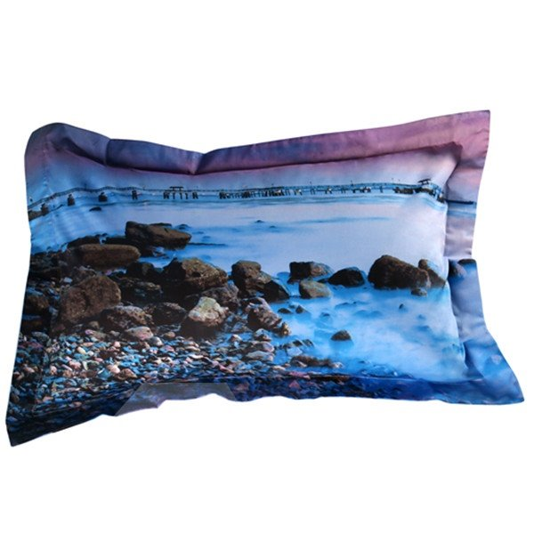 Pebbles in the Mist Print 2-Piece Pillow Cases