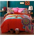 Fancy Boho Style 4-Piece Cotton Duvet Cover Sets