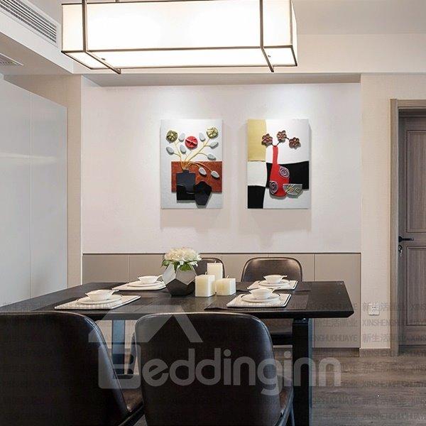 Elegant Decorative Flower Vase Pattern 2-Panel Wall Art Prints