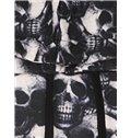 Cool Long Sleeve Skull Pattern Pocket 3D Painted Hoodie