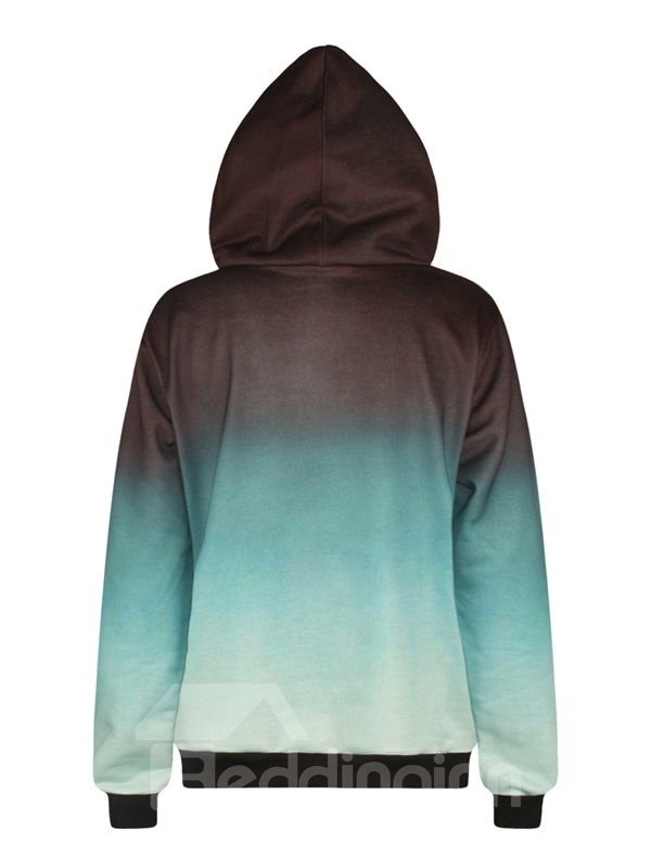 Unique Long Sleeve Blast Pattern Pocket 3D Painted Hoodie