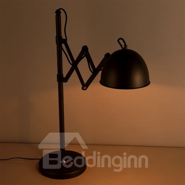 Simple Style Black 27 Inches High Stretch Head Table Lamp
