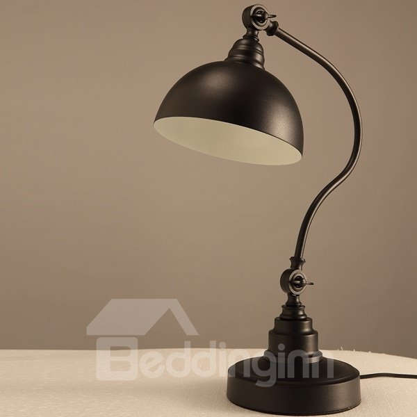 Black Simple Style Iron Home Decorative Table Lamp