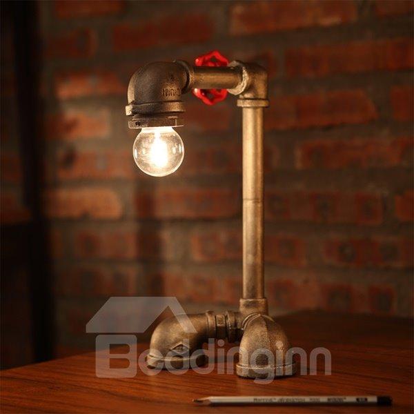Unique Design Iron Pipe Shape Decorative Table Lamp