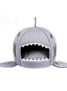 Creative Shark Design Soft Round Breathable Three Colors Option Pet Bed