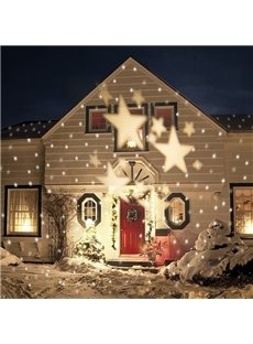 Decorative White Stars Pattern Indoor Outdoor Projection LED Light