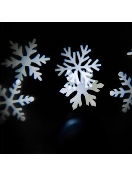 Amazing White Plastic Snowflake Shape Indoor Outdoor Projection LED Light