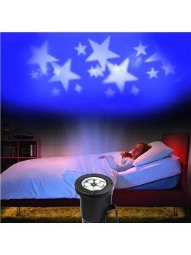 Romantic White Stars Pattern Projection LED Night Light