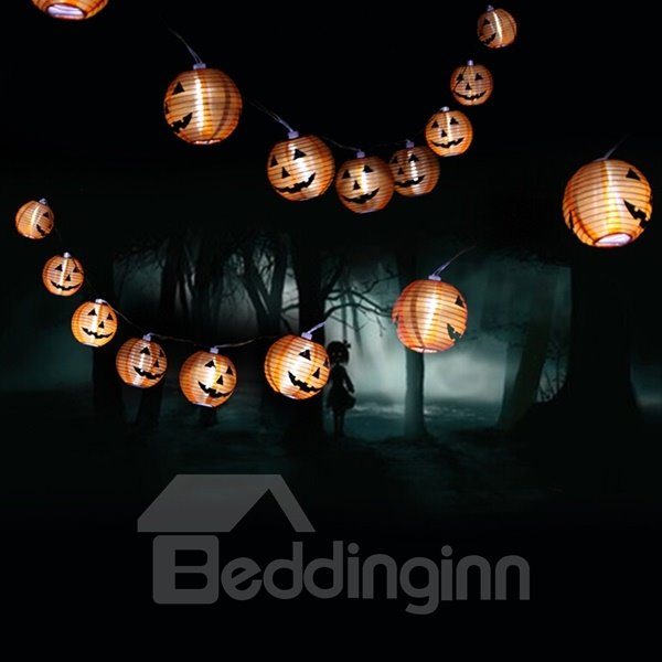 Cute Halloween Decoration Smile Pattern 78.7 Inches LED String Light