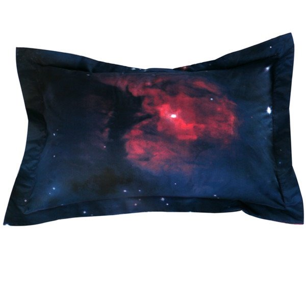 Colorful 3D Galaxy Printed Polyester 2-Piece Pillow Cases