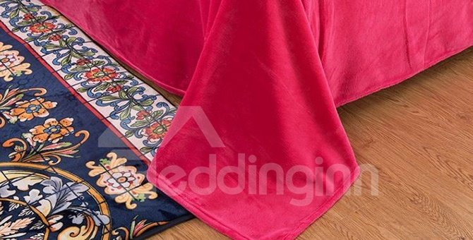 Boho Style Unique Flower 4-Piece Cotton Duvet Cover Sets