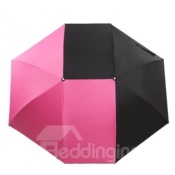 Concise Color Block Unique Shape Personal Umbrella