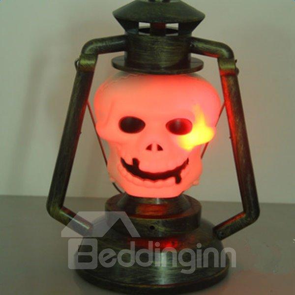 Fancy Plastic Skull Shape Halloween Decoration LED Light