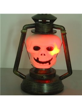 Fancy Plastic Skull Shape Halloween Decoration LED Light