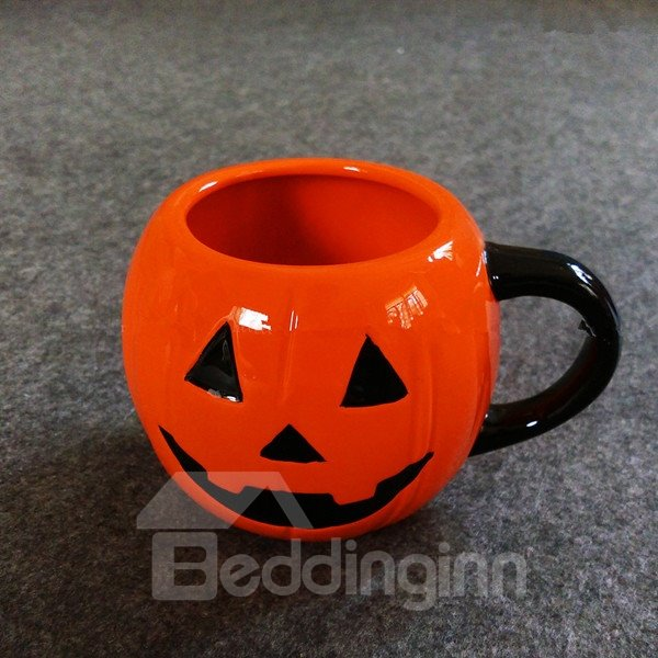 Simple Style Ceramic Pumpkin Pattern Halloween Decoration Coffee Mug