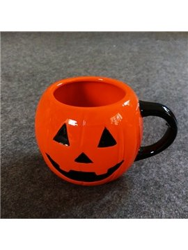 Simple Style Ceramic Pumpkin Pattern Halloween Decoration Coffee Mug