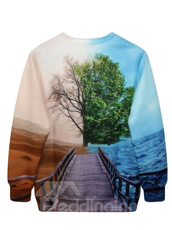Unique Novelty Pattern 3D Painted Hoodie