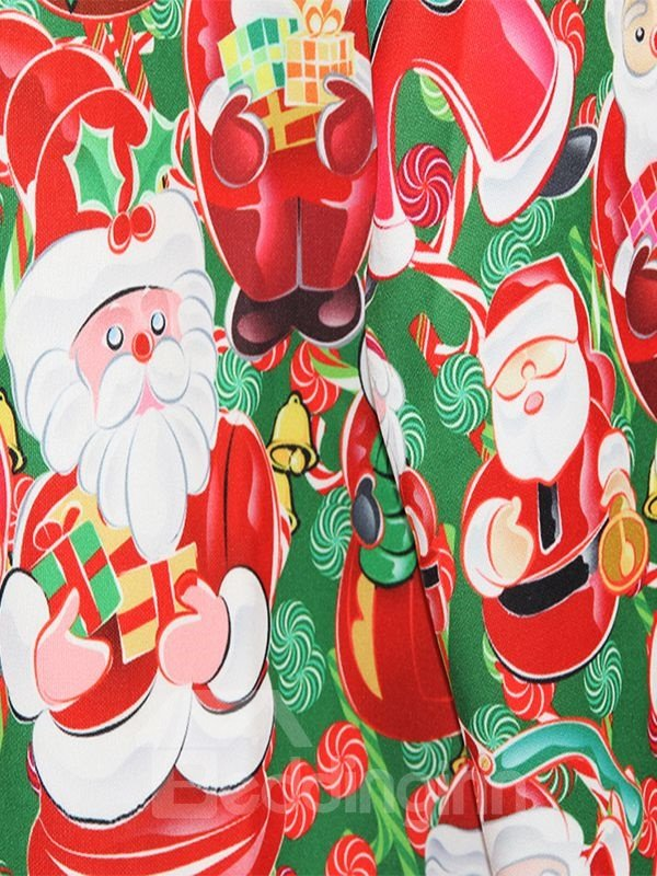 Christmas Style Santa Claus Pattern 3D Painted Hoodie