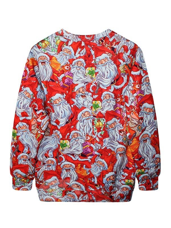 Christmas Style Long Sleeve Santa Claus Pattern 3D Painted Hoodie