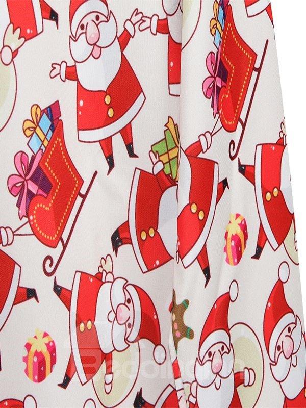 Cute Christmas Style Santa Claus Pattern 3D Painted Hoodie