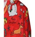 Christmas Style Long Sleeve Cartoon Pattern Red 3D Painted Hoodie