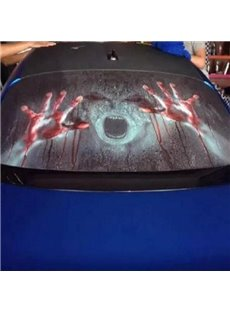 Terrorist Bloody Hands Style And Anti-High Beam Creative Car Sticker