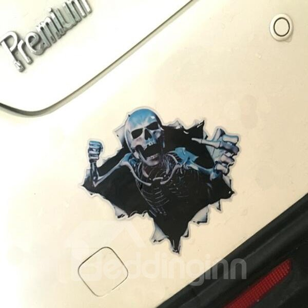 Angry Skull Monster Ready Attack Modeling Creative Car Sticker