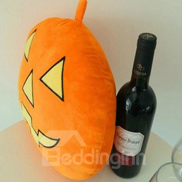 Exaggerated Terror Pumpkin Style Halloween Car Pillow