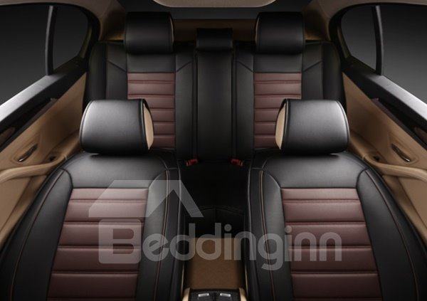 Special Contrast Color Design Leather Material Universal Five Seven Car Seat Cover
