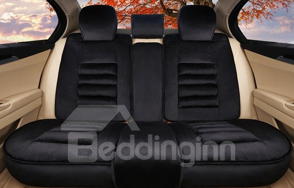 Luxury Velvet Material Super Warm And Soft Five Seven Car Seat Cover