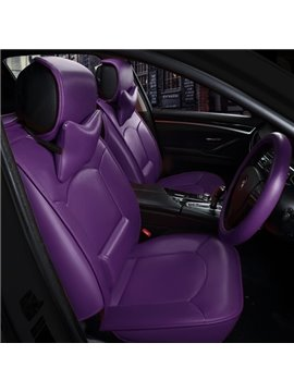 Solid Colorful Fashional Luxury Style Universal Five Seven Car Seat Cover