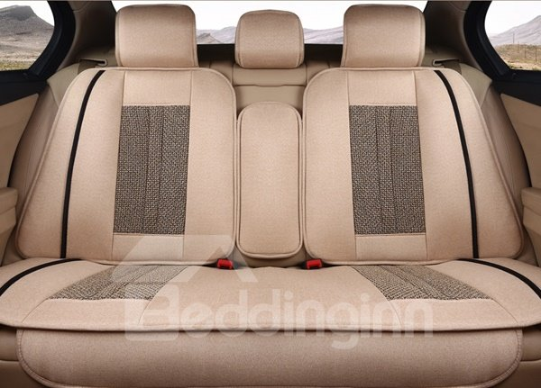 Luxurious Rubbing Classic Design Flax Universal Five Seven Car Seat Cover