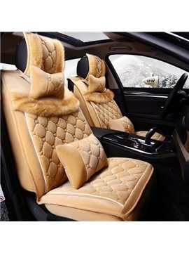 Super Comfortable Soft Velvet Material Universal Five Seven Car Seat Cover
