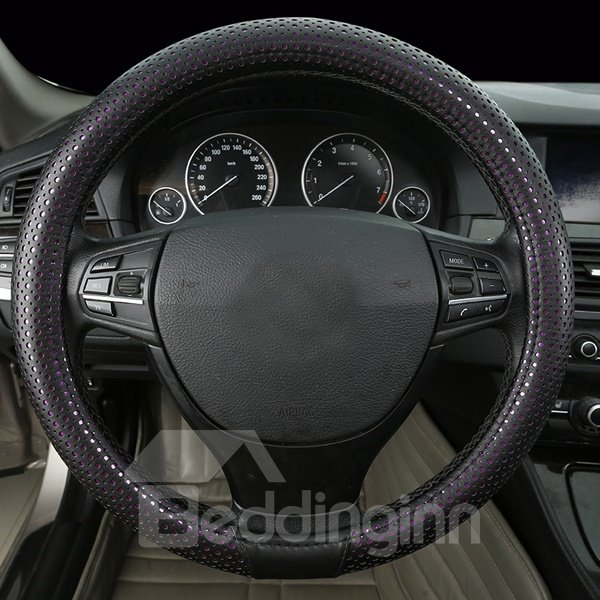 Super High Cost-Effective Mesh Design Leather Car Steering Cover