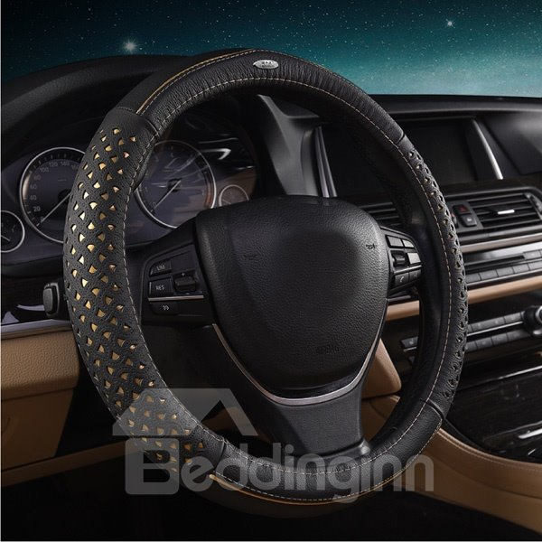 Cool Mesh Design Style Leather Material Car Steering Wheel