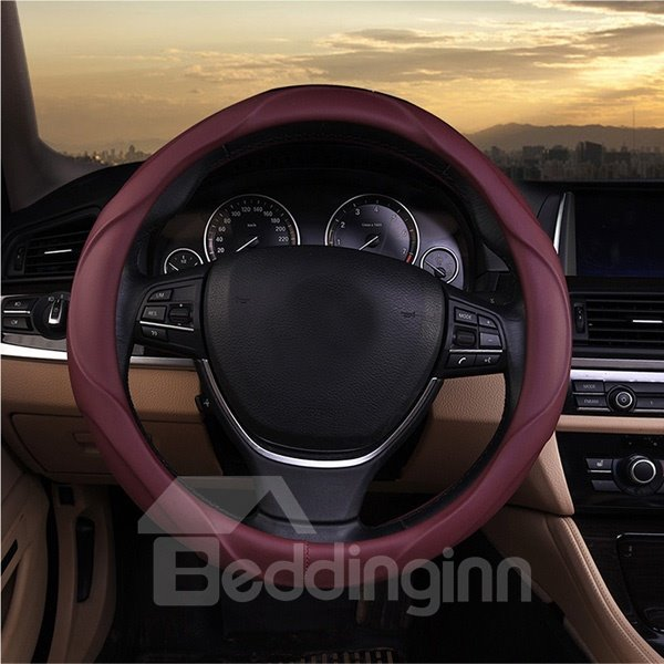 Three-Dimensional With Deep Lines Comfortable Leather Material Car Steering Wheel Cover