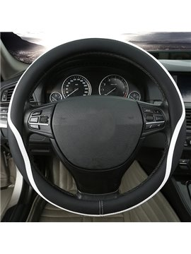 Contrast Color With Streamline Sport Style Car Steering Wheel Cover