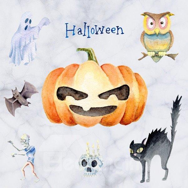 Decorative Pumpkin and Animal Pattern Halloween Wall Stickers