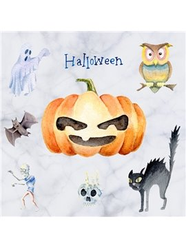 Decorative Pumpkin and Animal Pattern Halloween Wall Stickers