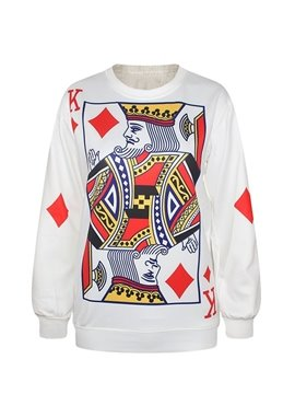 Popular Long Sleeve Poker Pattern 3D Painted Hoodie