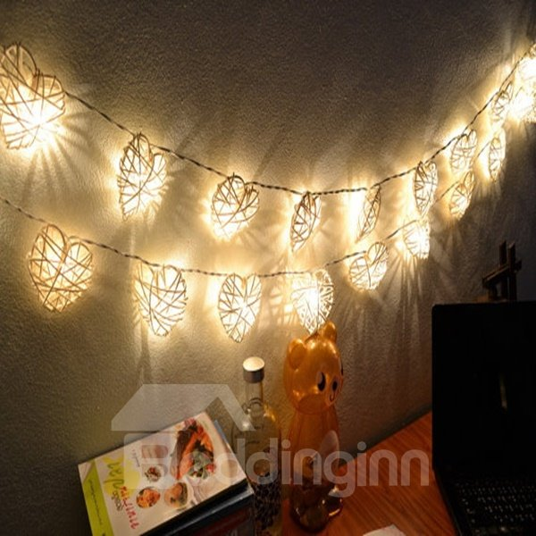 Elegant Vine Heart Shape 6.5 Feet 20 Bulbs LED String Light