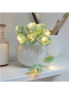 Fancy Fabric Flower Shape 6.5 Feet Length 20 Bulbs LED String Lights