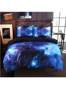 Charming Blue Galaxy Print 4-Piece Duvet Cover Sets